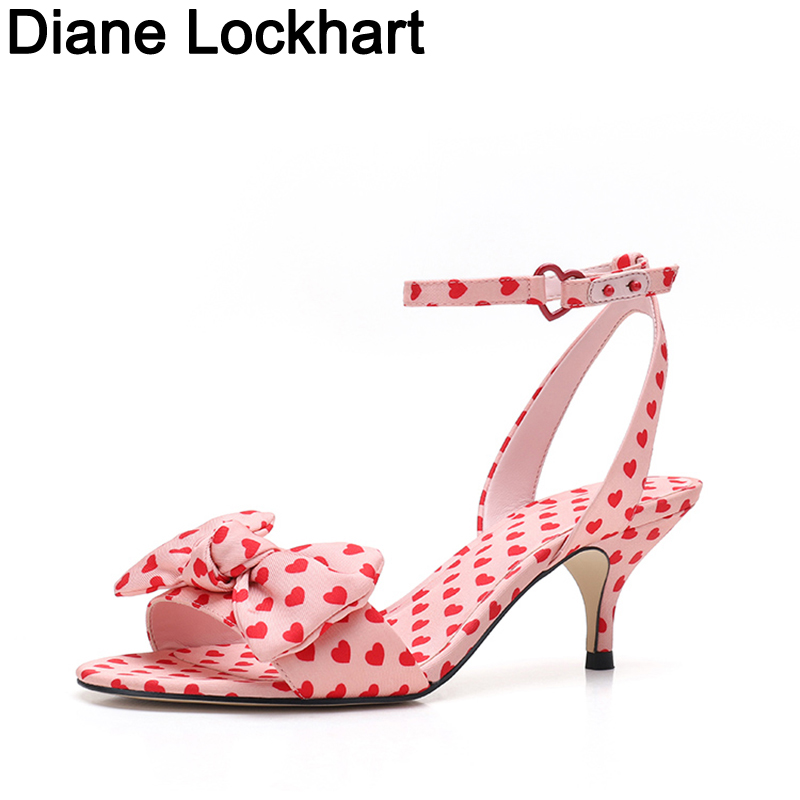 Sandals Women Ankle Strap Bow Shoes Sweet Polka Dot High Heel Women Shoes 2019 Summer New Female Sandals Zapatos De Mujer