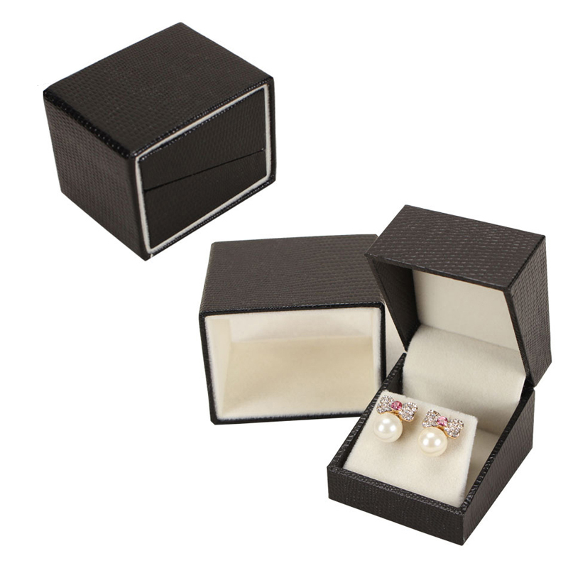 Luxury Antique Leatherette Jewelery Earring Presentation Storage Gift Charm Box