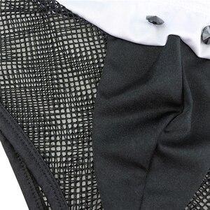 Image 5 - YiZYiF Erkekler Hizmetçi Kıyafetleri tenue seksi homme Eşcinsel Erkekler Cosplay Kostüm Tops Boxer Külot Iç Çamaşırı Yaka Kelepçe iç çamaşırı seti