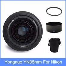 Yongnuo yn35 YN35mm F2 объектив широкоугольный Большой Апертурой Фиксированная Автофокуса Объектив + Бленда + объектив сумка + 58 мм УФ-фильтр Nikon