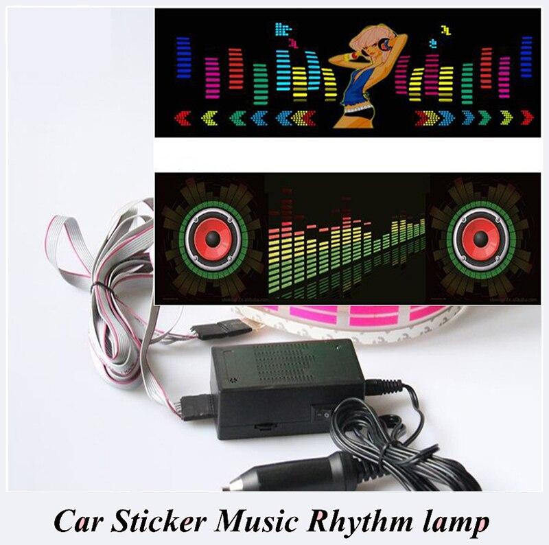 Автомобильная мигающая Автомобильная наклейка музыкальный ритм светодиодный ная вспышка лампа звуковая активация эквалайзер атмосфера а...