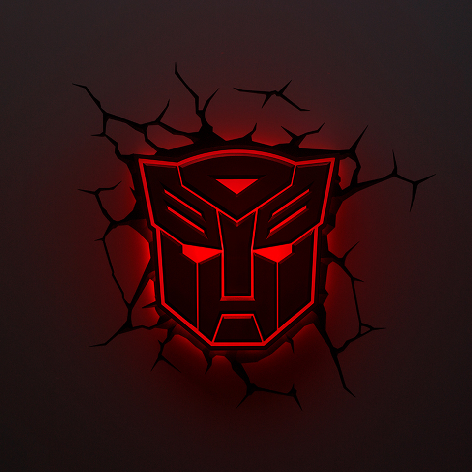 GuxenTransformer Autobots Decepticons 3D Creative Mood Lamp Color Change Night Light Child Kids Bedroom Deco Boys Xmas Gifts - 4