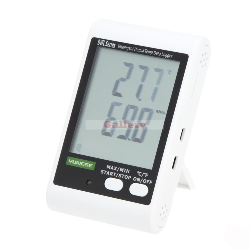 New White Lcd Digital Temperature Meter Humidity Meter Data Recording Logger Thermometer Hygrometer Usb Cable Pc Connecting new usb temp temperature humidity datalogger data logger record meter 40 70c