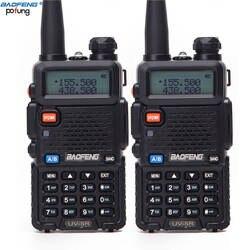 2 шт Baofeng BF-UV5R любительского радио Портативный портативная рация UV-5R 5 W УКВ/ДМВ радиостанция Dual Band двухстороннее радио УФ 5r CB радио