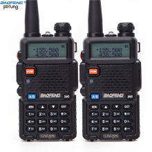 2 pièces Baofeng BF-UV5R Radio Amateur Portable talkie-walkie Pofung UV-5R 5W VHF/UHF Radio bibande Radio bidirectionnelle UV 5r CB Radio(China)