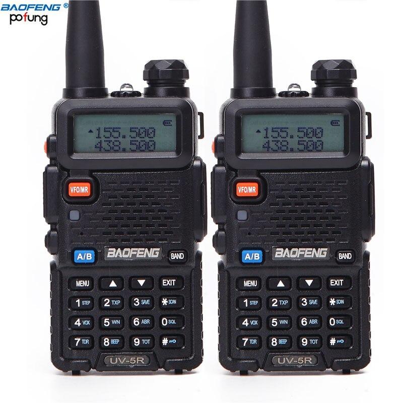 2PCS Baofeng BF-UV5R Amateur Radio Portable Walkie Talkie Pofung UV-5R 5W VHF/UHF Radio Dual Band Two Way Radio UV 5r CB Radio
