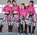 2016 Nueva Marca de moda de la calle patineta Deportivos Trajes desgaste interpretación femenina pantalones Harem Hip Hop Danza Pantalones