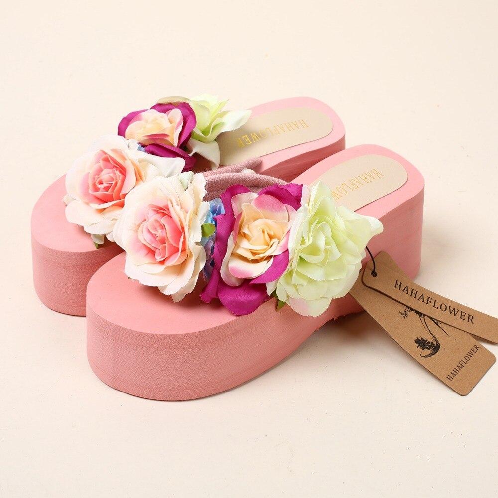 HAHAFLOWER New Women Sandals Fashion Flower Summer Sandals Wedges ...