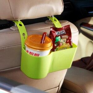 Image 3 - Auto Organizzatore Supporto di Tazza Sostegni bevande Accessori Per Auto Multifunzione Cibo Ripiani Sedile Posteriore Regolabile Automobili Forniture
