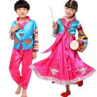 Sıcak Satış çocuk Hanbok Çocuk Kızların Kore Geleneksel Hanbok Kostüm Kore Hanbok Elbise Klasik Dans Kostümleri Kızlar için