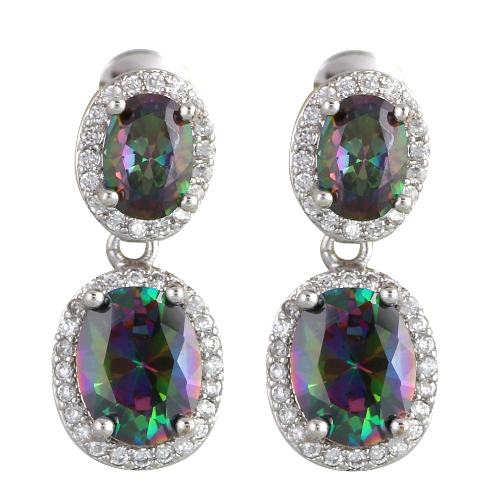 Top quality Rainbow Mystic Zircon Silver Best gifts Cubic ...