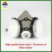PROVIDE Respirator Dust Mask High Quality Gray Dust Mask 10 Piece Filter Cotton Painting Welding Respiration