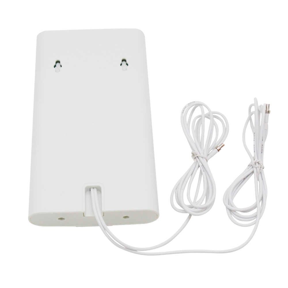 700-2600mhz 3 グラム 4 4g lte 外部ブースターパネルアンテナ 4 4G LTE mimo 2 × 2 CRC9/TS9/SMA コネクタ + 2 メートル 3 グラム 4 グラムルータ 4 グラム無線 lan 携帯