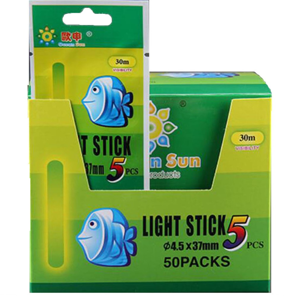100PCS Green Light Fishing Glow Float Stick Fishing Tackle