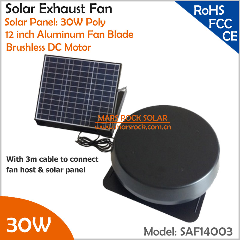 Brushless Motor with no fixed Solar Panel 30W 12 Solar Exhaust Fan with cable switch ventilation fan themostat controllerBrushless Motor with no fixed Solar Panel 30W 12 Solar Exhaust Fan with cable switch ventilation fan themostat controller