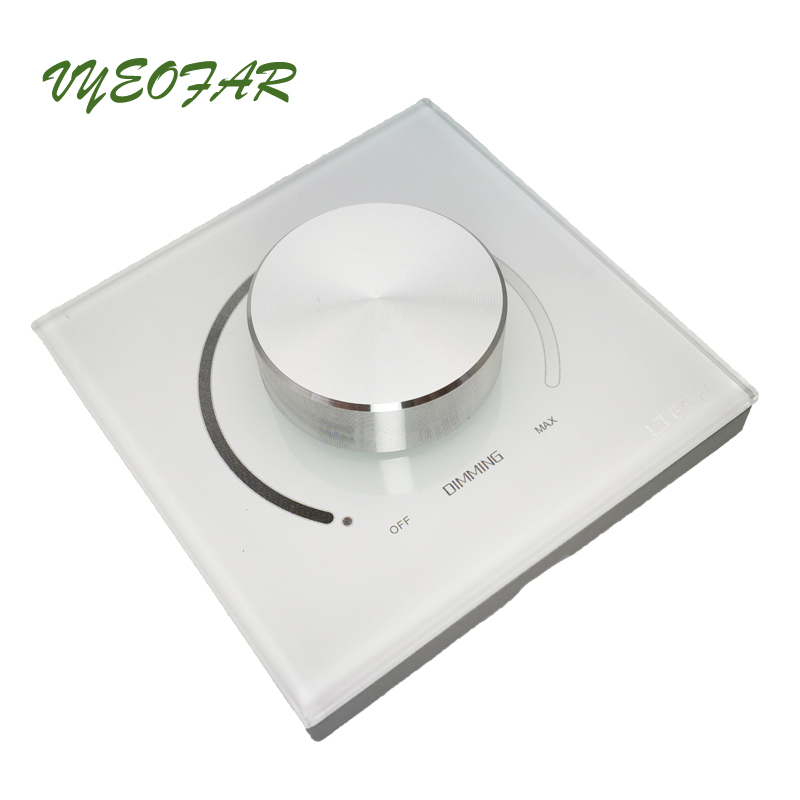 New Dali Dimmer For COB Lights Led Strip Dali Switch Wall Mount Dali Dimmer Knob Dimmable Panel Dimming Controller