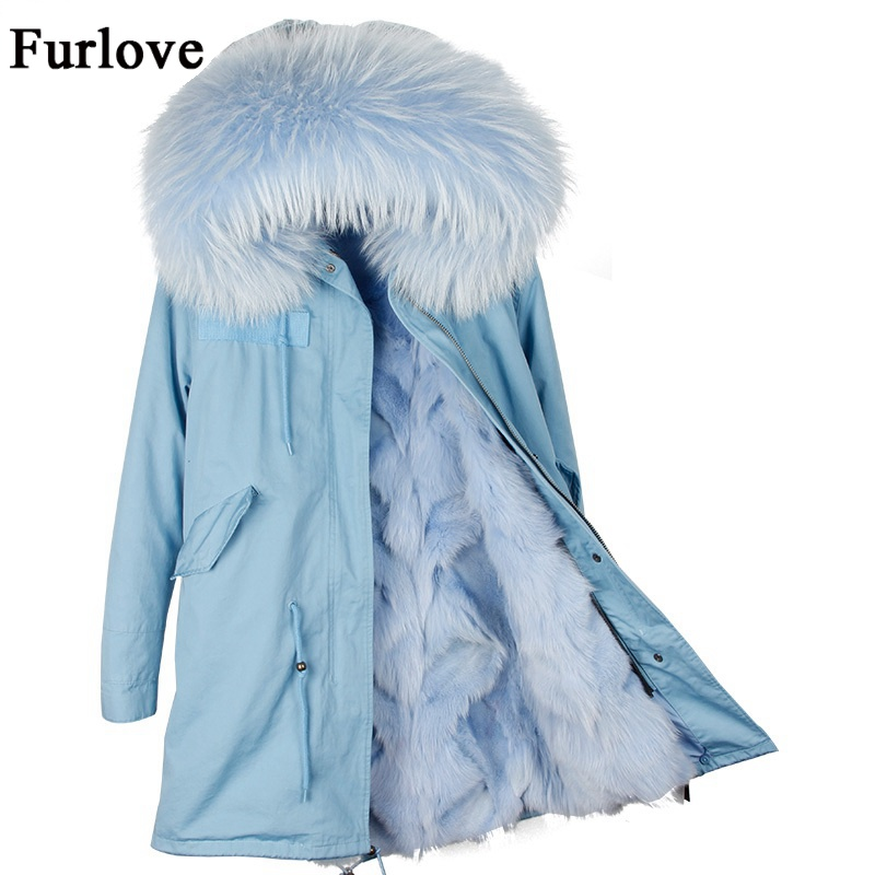 Winter Coat Women Womens Jackets Natural Raccoon Fur Collar Hooded Jacket Real Fox fur Parka Thick Coats Casual Long Warm Parkas woman winter jacket fur natural fox fur genuine leather jacket long winter coat sleeve three quarter thick womens down jackets