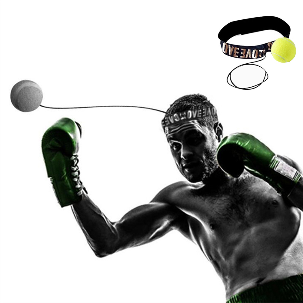 Speed Boxing Punch Exercise Fight Boxeo Ball Head Band Reflex Speed Training