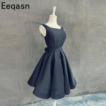 Short Knee Length Wedding Guest Dress 2020 Sexy Backless Red Black Dress for Wedding Party Cheap Plus Size vestido de festa long