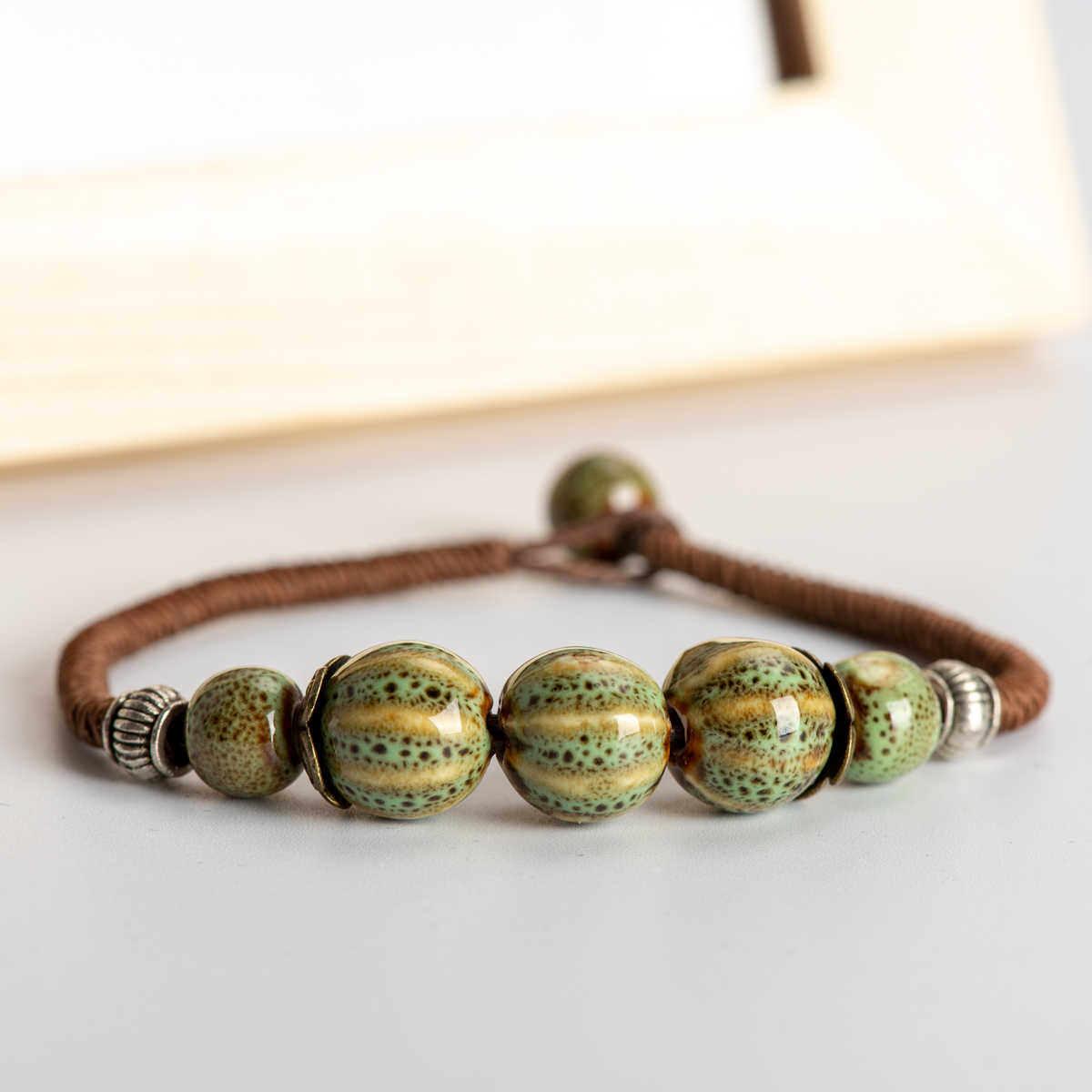 DIY Boho Ceramic Bracelets Handmade Bangle Boho Ceramic jewelry for women drop shipping #HY268