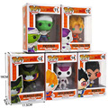 5 Tipos Funko POP 10 cm Dragon Ball Z Super Saiyan Célula goku Vegeta Freeza Piccolo DragonBall PVC Action Figure Modelo Toy