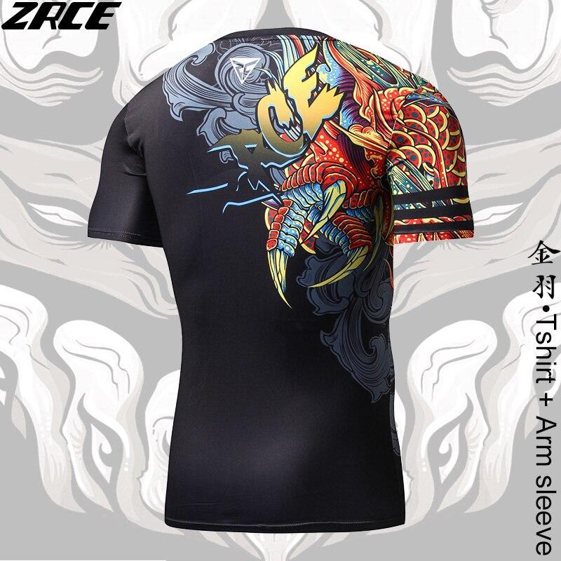 b7c0639ec4fd Camicia di compressione di Stile Cinese Divertenti t shirt Drago Marchio di  Abbigliamento 3D T camicia con Manica Del Braccio Tee Shirt Homme di  Allenamento ...