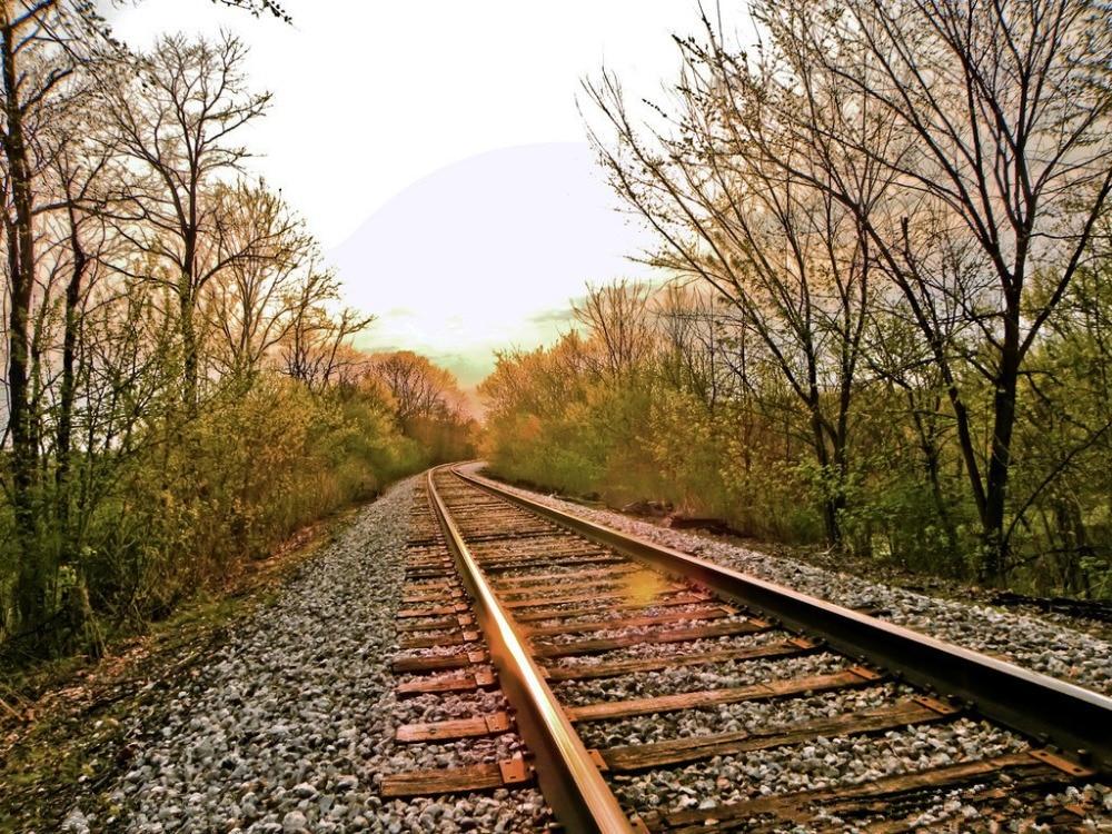 7x5ft Vinyl Custom Railway Theme Photography Backdrops Prop Photo Studio Background NTG-148
