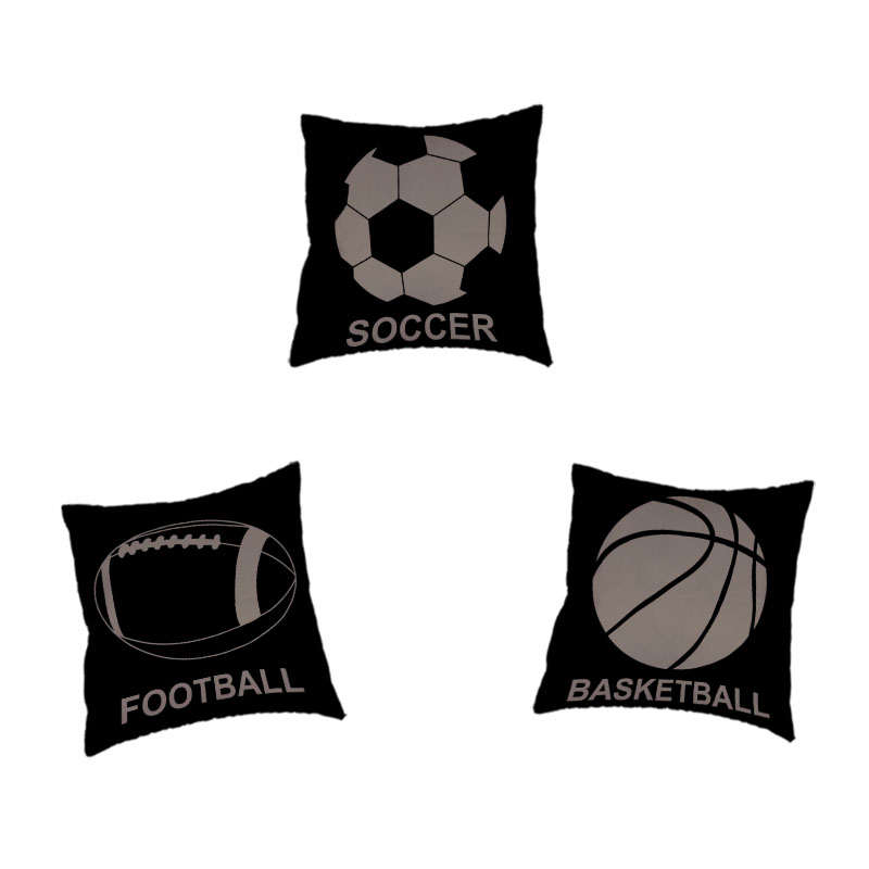 Simple Style Cushion Cover Basketball Football Vollerball