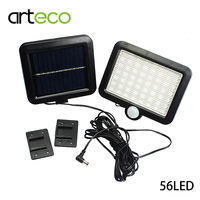 LED Solar Light 56LEDs Ultra Bright PIR Human Sensor Solar Lamp Outdoor Garden Infrared Security