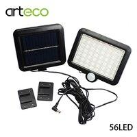 Ultra Bright 56LEDs Solar Light PIR Montion Sensor Solar Lamp Outdoor Garden Infrared Security Solar Wall Lamp