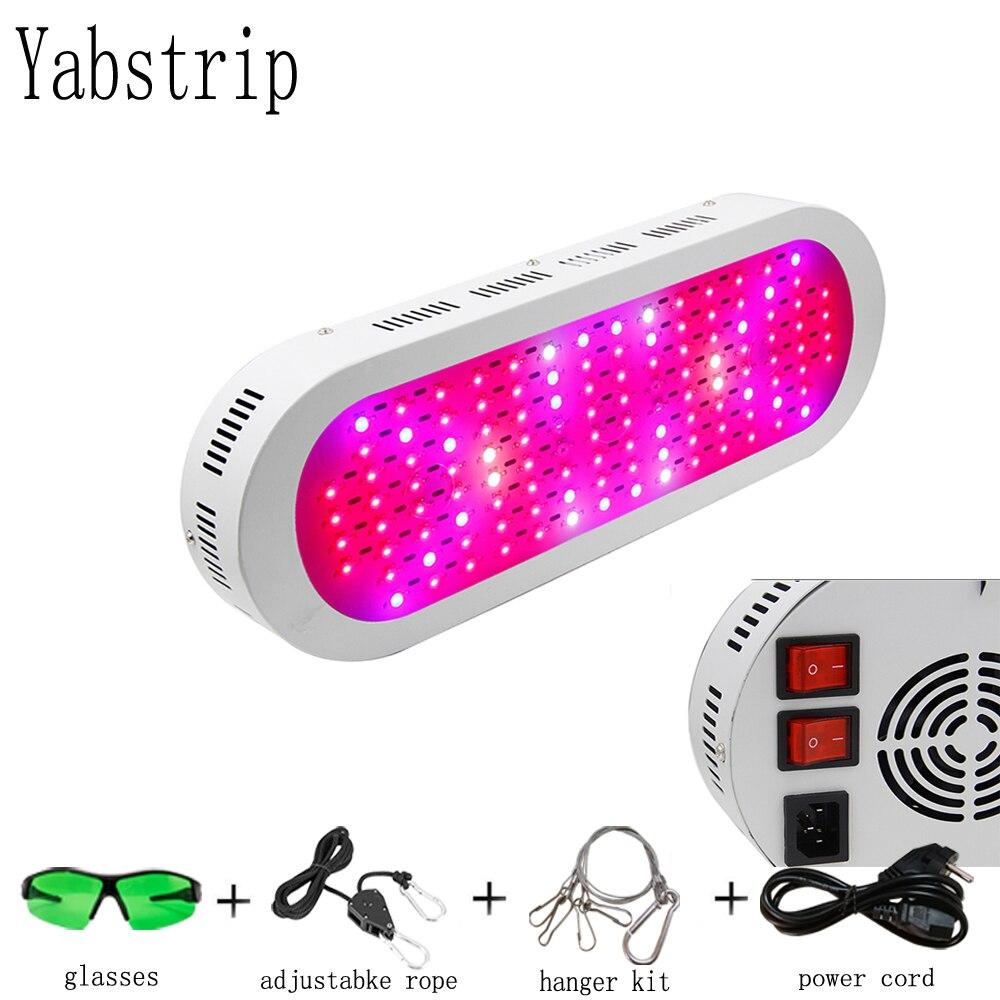Yabstrip LED à spectre complet grandir lumière Lampada 600 W double interrupteur intérieur plante lampe floraison hydroponique système IR UV jardin