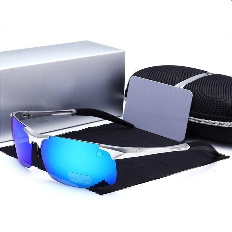 Mode de Conduite lunettes de Soleil Polarisées Hommes Mercede lunettes de Soleil Mâle Miroirs Réfléchissants Lunettes De Soleil Masculin Revêtement a logo 8888