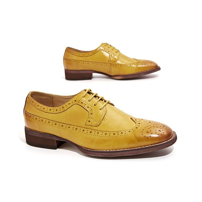 BeauToday Sapatos Brogue Wingtip Depilação de Pele De Carneiro Couro Genuíno Das Mulheres Flats Lace Up Dedo Do Pé Quadrado Sapatos Femininos Feitos À Mão 21098 - 4