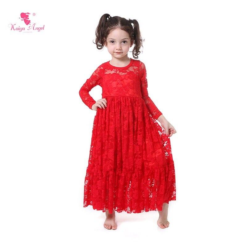 Pcs lot girls dress red long sleeve christmas