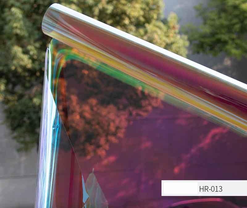SUNICE 1x10 M Caméléon Arc Décoratif film pour vitre Teinte Auto-adhésif PET Affichage En Verre bricolage Maison Bureau Buliding