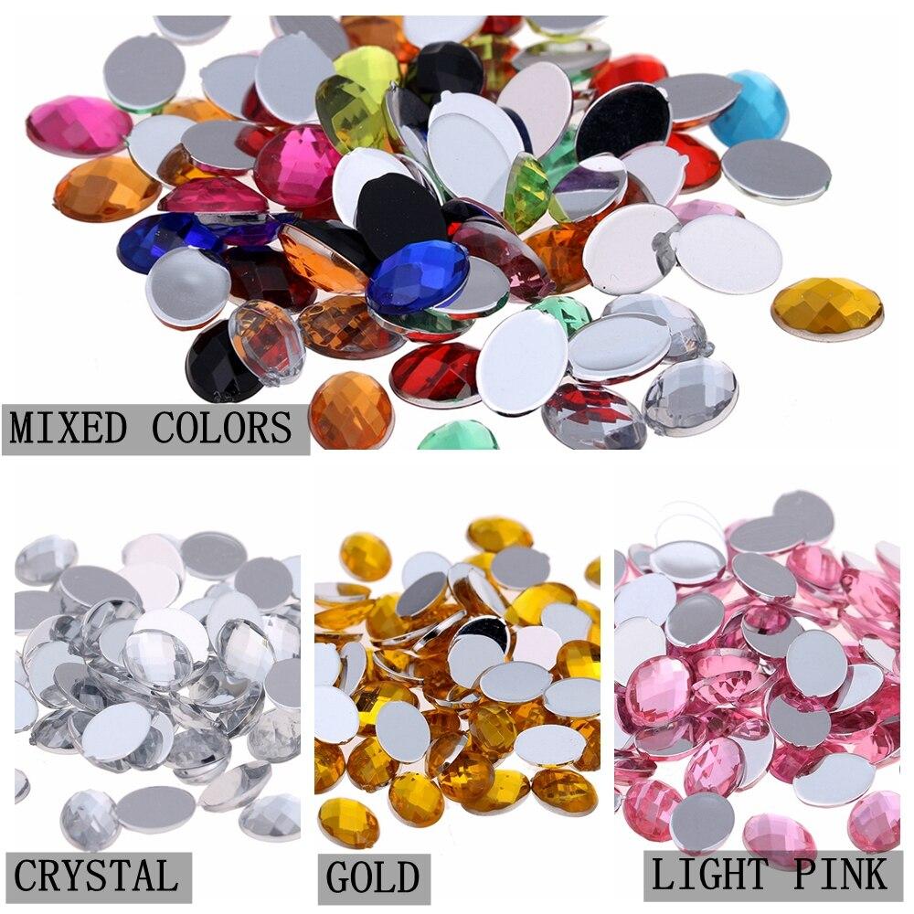 10x14mm 30pcs Oval Gems Flatback Earth Facets Acrylic Rhinestone Craft Art  Gems Strass High Shine Nail 6d3a6f4bbdda