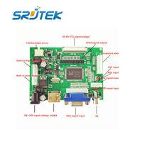 LCD Ekran TTL LVDS Denetleyici Kurulu HDMI VGA 2AV 50PIN AT070TN90 92 94 için Destek Otomatik VS-TY2662-V1 Sürücü Kartı