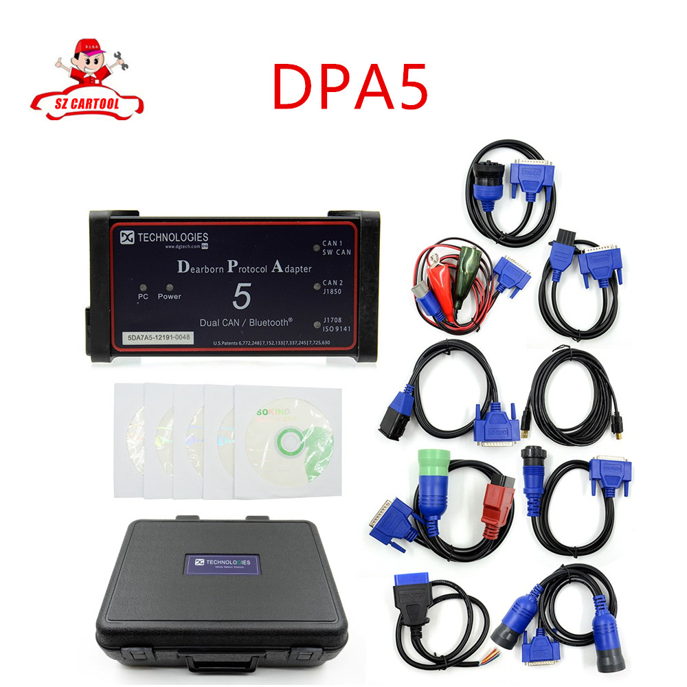 Best DPA 5 Diesel Truck Diagnostic Scanner Tool Full Set DPA5 Dearborn Protocol Adapter 5 Commercial Maintence Better Than Nexiq