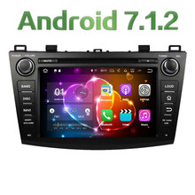 8″ Android 7.1.2 Quad Core 2GB RAM 16GB ROM Car DVD Stereo radio player for Mazda 3 2009-2012 GPS Navigation Support Bose SWC
