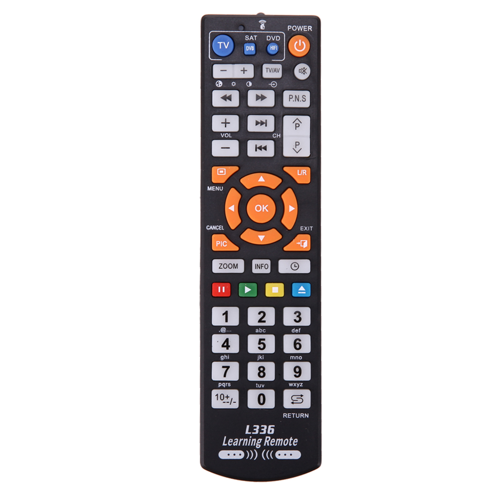 Smart TV Remote Control Replacement TV Remote Controller With Learn Function For TV/VCR/SAT/CBL/STR-T/DVD/VCD/CD/HI-FI 1pcs chunghop rm l987e tv sat dvd cbl cd ac vcr smart tv 3d universal remote control learning equipment with lcd display