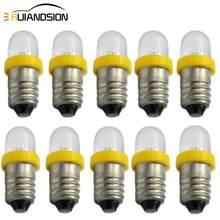 Voyant d'avertissement de faible consommation d'énergie E10 LED, blanc 6V 12V, 10 pièces/lot, indicateur de Base de vis, ampoule jaune bleu vert rouge