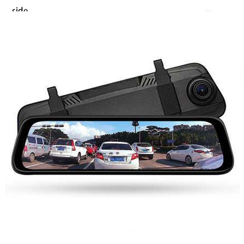 Rearview-Mirror Streaming-Media-Driving-Recorder Touchscreen Dash-Camera 1080p Full-Hd