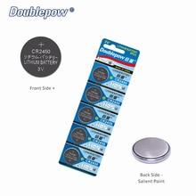 Qualidade 5 pcs/2 Cartão Doublepow CR2450.DL2450 DP-CR2450 3 V Botão Bateria de Célula tipo Moeda De Lítio, ECR2450, GPCR2450, o OEM é aceitável