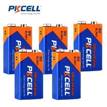 5 Pcs * PKCELL Batterie 9 V 6LF22 6LR61 PPP3 1604A Alkaline Batterie Nicht Aufladbare 9 V Batterie Batterien