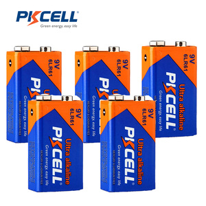 Image 1 - 5Pcs*PKCELL Battery 9V 6LF22 6LR61 PPP3 1604A Alkaline Battery Non Rechargeable 9V Battery Batteries for Electronic thermometer