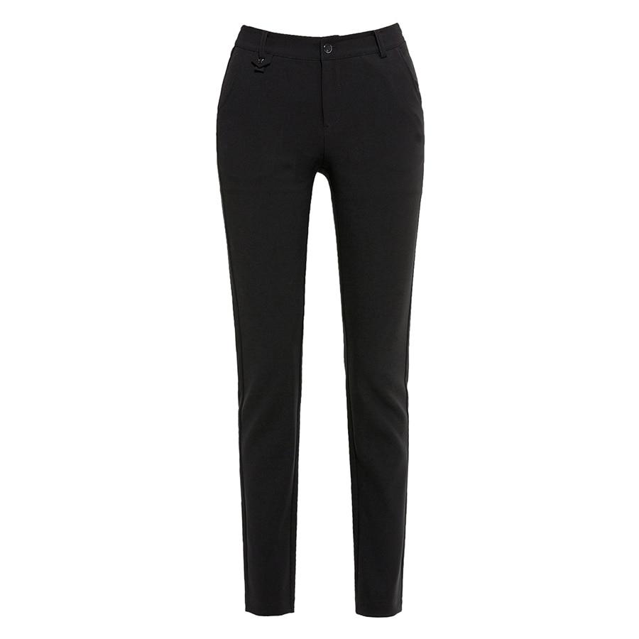 13d5ddd4b32 Black Office Pants Ladies Casual Trousers womanSummer Open Pants Zipper  Plus Size Middle Aged womanBlack Leggings 70K002-in Pants   Capris from  Women s ...