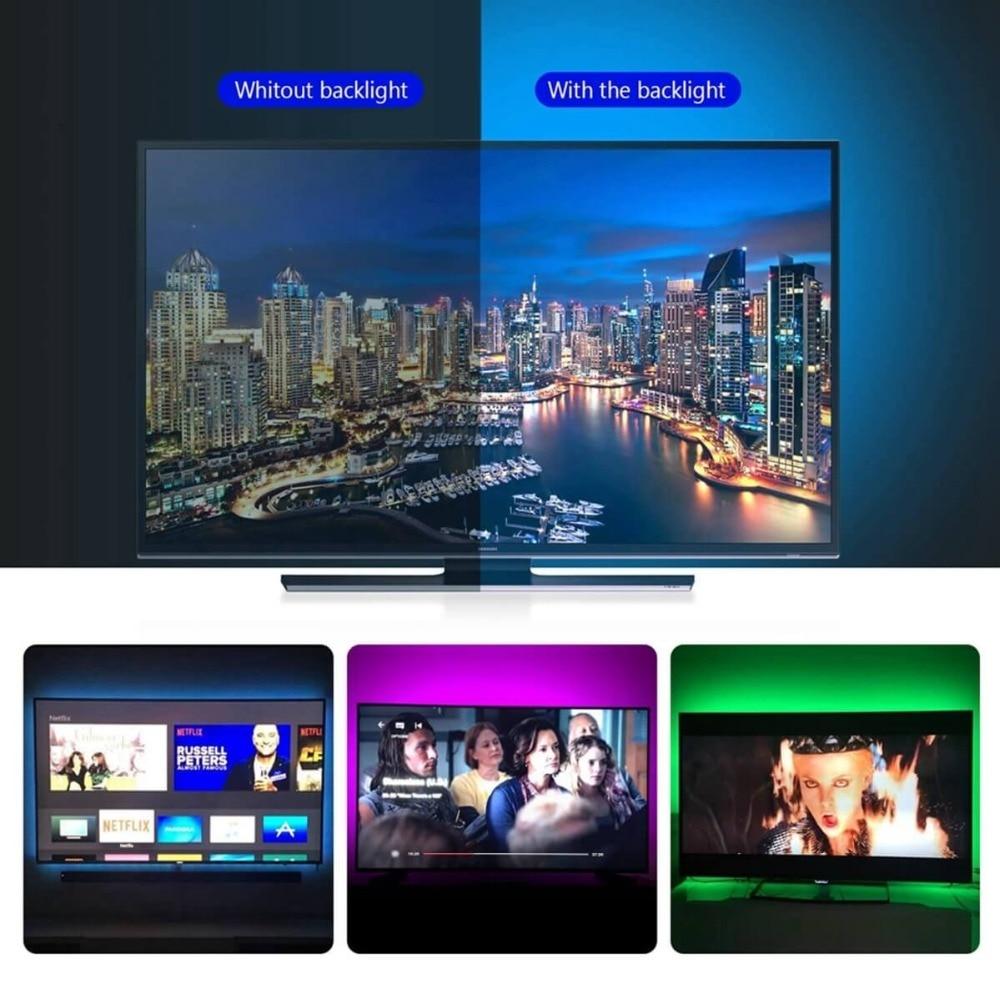 HTB1ZhMoMNnaK1RjSZFtq6zC2VXaS WELPUR battery 5V USB LED Strip 2835 DC LED Light Flexible 50CM 1M 2M 3M 5M white warm For TV Background Lighting Night light