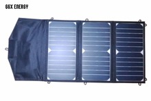 ФОТО SUNPOWER 20 Watt Portable Folding Solar Panel Charger for iPad/Tablets/Mobile Phones/Smart Phones/iPhone 5/6/6 plus 2xUSB Out