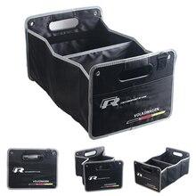 Багажник автомобиля Складной Большой Емкости Ящик Для Хранения Автомобиля Для Volkswagen Skoda поло Гольф 5 6 passta b5 b6 b7 tiguan Jetta 2015 caddy
