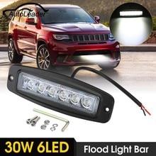 Autoleader 7 дюймов 30 Вт LED заподлицо Свет Бар Наводнение Вождение работы лампы Offroad внедорожник Pickup ATV pmma
